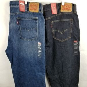 NWT Levi 514 Men Straight Jeans Lot 42x32 Blue